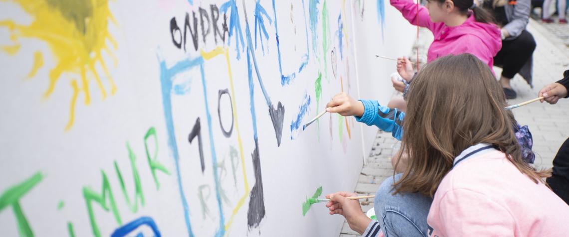 Odhalení Mural art