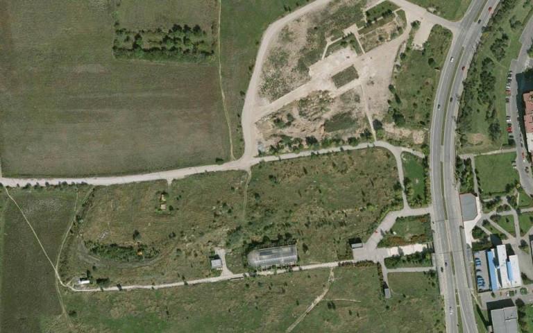 Satelitní snímek Britská čtvrť rok 2008