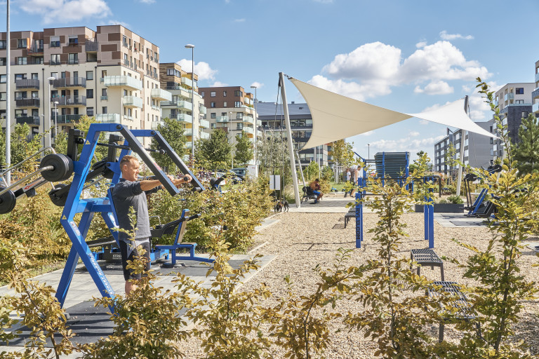 A new workout playground in Britská čtvrti