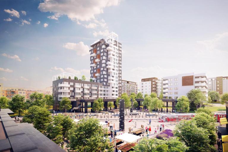 Dva nové bytové domy na Barrandově v projektu Kaskády Barrandov