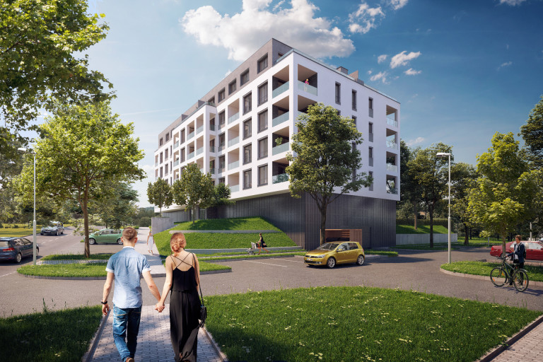 New cooperative apartments in the Kaskády Barrandov project on sale